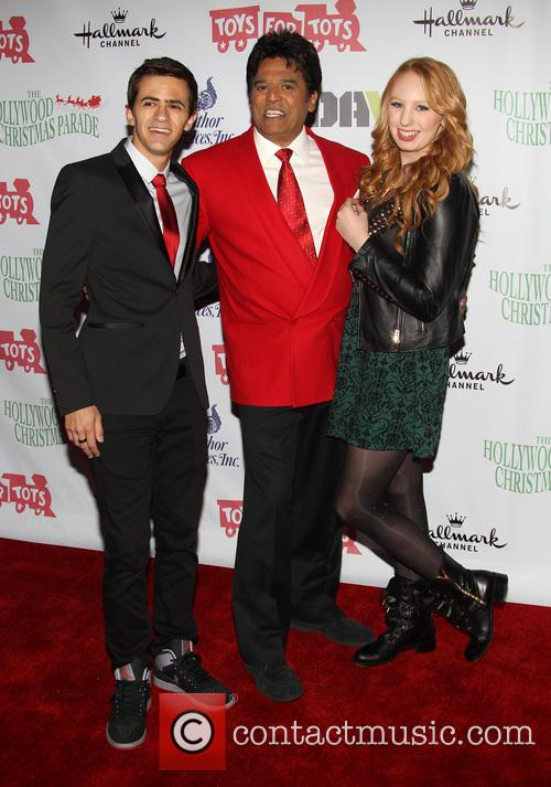 Erik Estrada, Elizabeth Stanton, Guest, On Hollywood Blvd, Hollywood Christmas Parade
