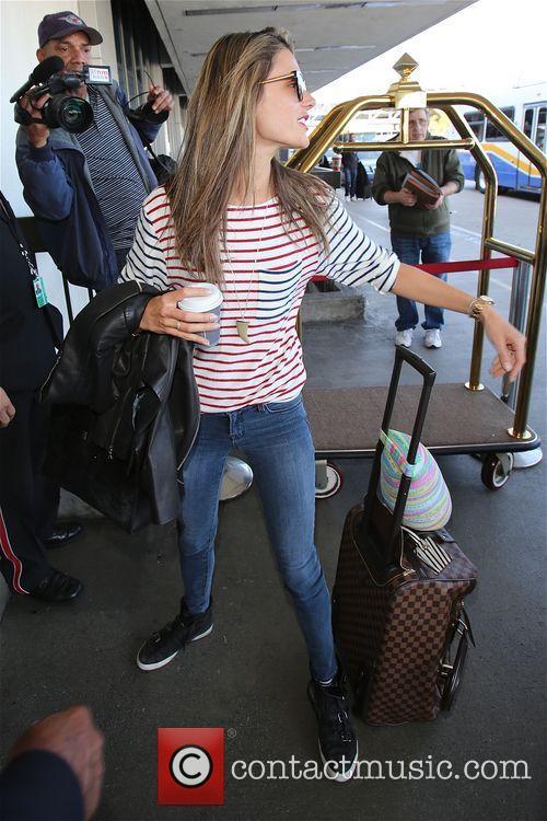 Alessandra Ambrosio arrives at LAX