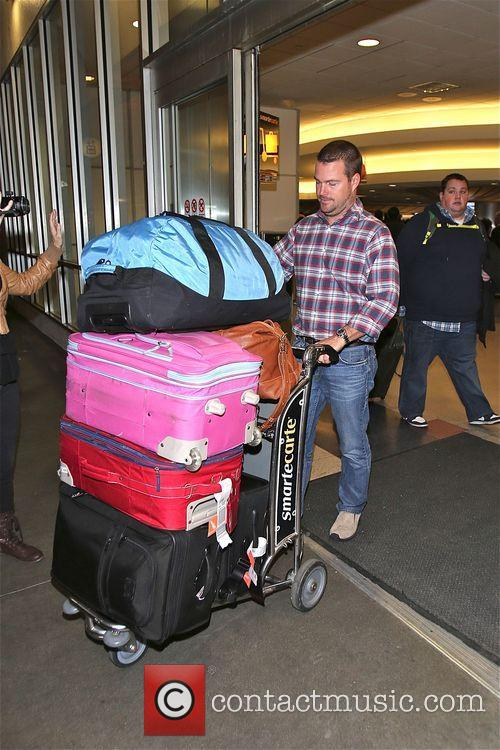 Chris O'Donnell arrives at LAX airport