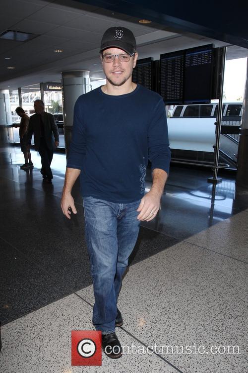 Matt Damon arrives at LAX