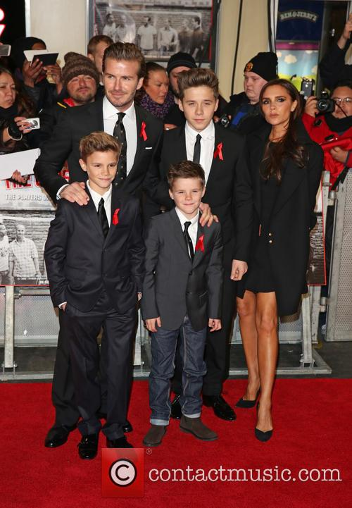 David Beckham, Brooklyn Beckham, Cruz Beckham, Romeo Beckham and Victoria Beckham 2