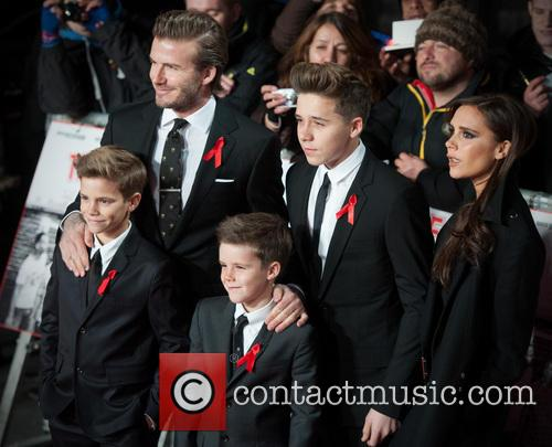 David Beckham, Victoria Beckham, Cruz, Brooklyn, Harper, Odeon West End