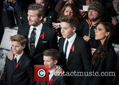 David Beckham, Victoria Beckham, Cruz, Brooklyn and Harper 5