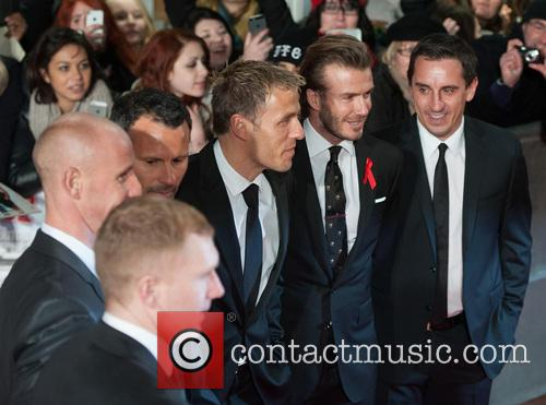 Phil Neville, Ryan Giggs, Nicky Butt, Paul Scholes, David Beckham and Gary Neville 1