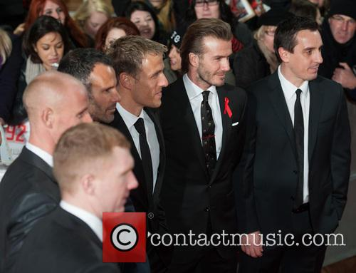 Phil Neville, Ryan Giggs, Nicky Butt, Paul Scholes, David Beckham and Gary Neville 13