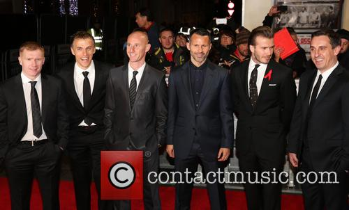 Paul Scholes, Phil Neville, Nicky Butt, Ryan Giggs, David Beckham, Gary Neville, Odeon West End