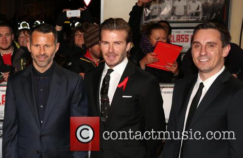 Ryan Giggs, David Beckham, Gary Neville, Odeon West End