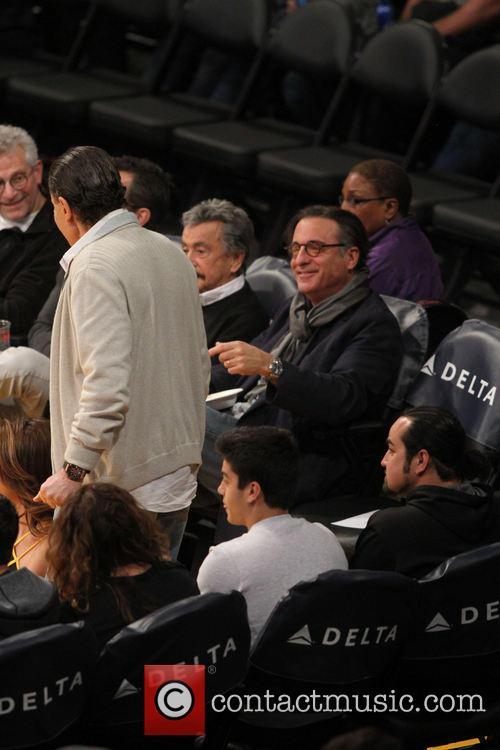 andy garcia celebrities at the lakers game 3977243