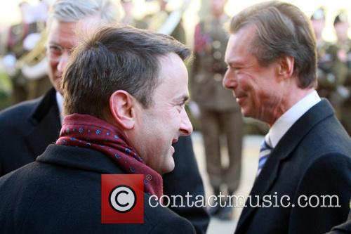 The Belgian royals attend a welcome ceremony hosted...