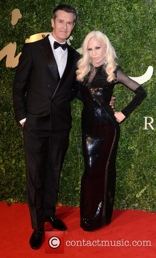 Rupert Everett and Donatella Versace 2