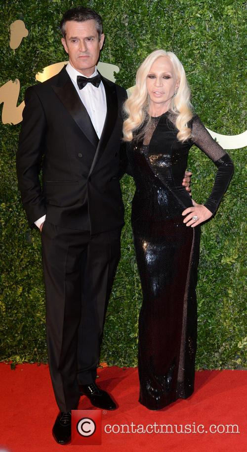 Rupert Everett and Donatella Versace 1