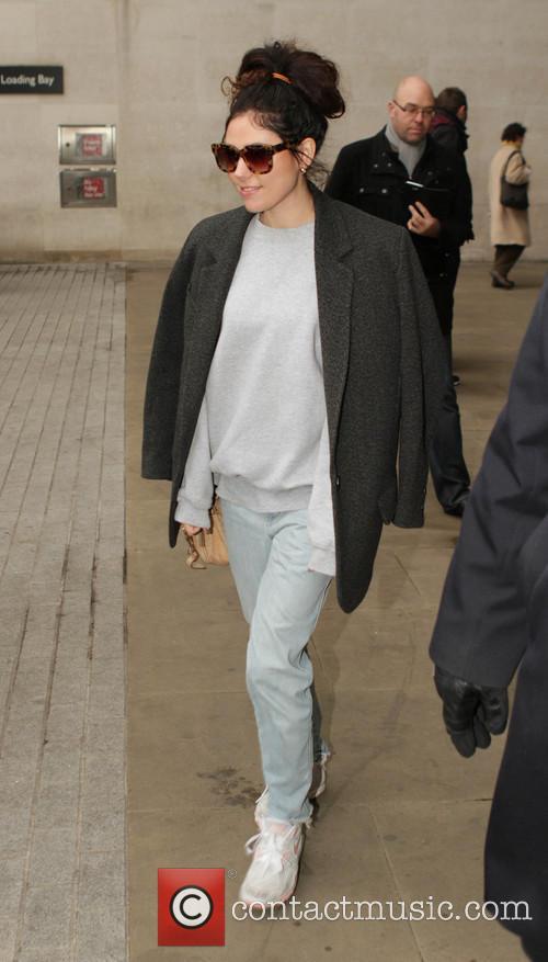 Eliza Doolittle leaves the BBC Radio 1 studios