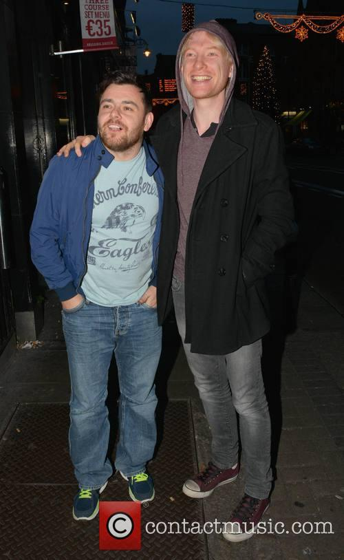 Laurence Kinlan and Domhnall Gleeson 1