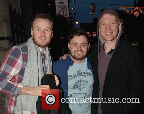 Paul Reid, Laurence Kinlan and Domhnall Gleeson 2