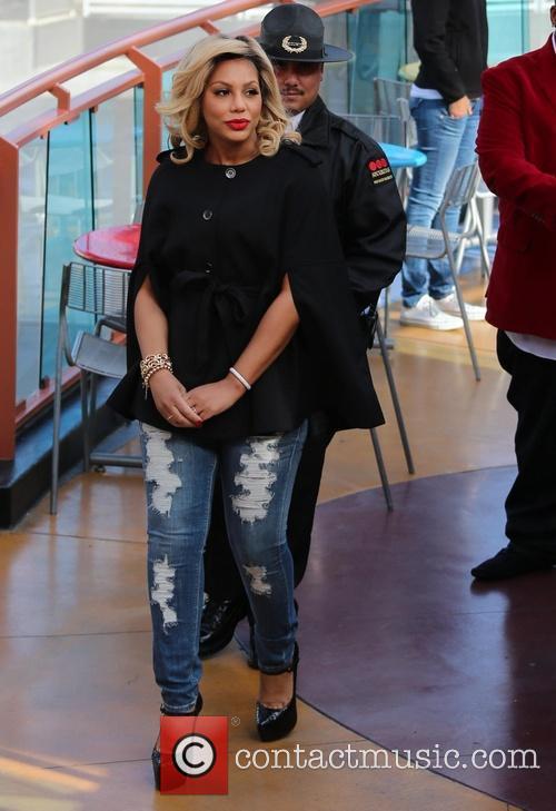 Tamar Braxton appears on Extra