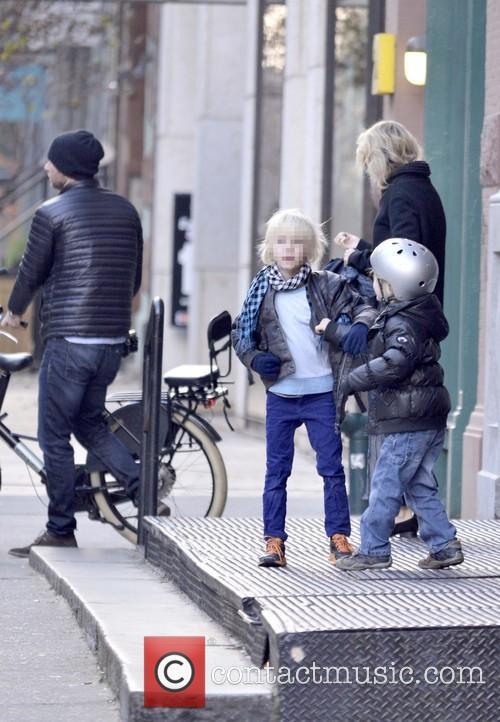 Liev Schreiber takes his sons to school on...