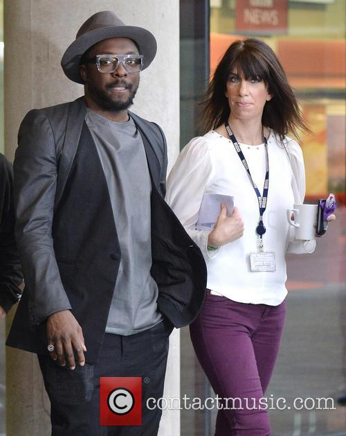 Wil.i.am outside the BBC Salford Quays studios