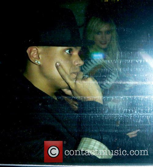 Ashlee Simpson and Evan Ross leaving Mr Chow