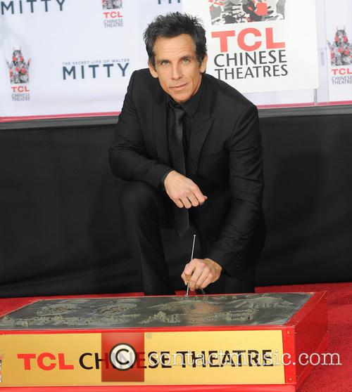 Hand and footprint ceremony for Ben Stiller