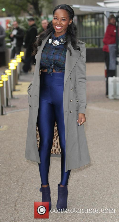 Jamelia outside the ITV Studios
