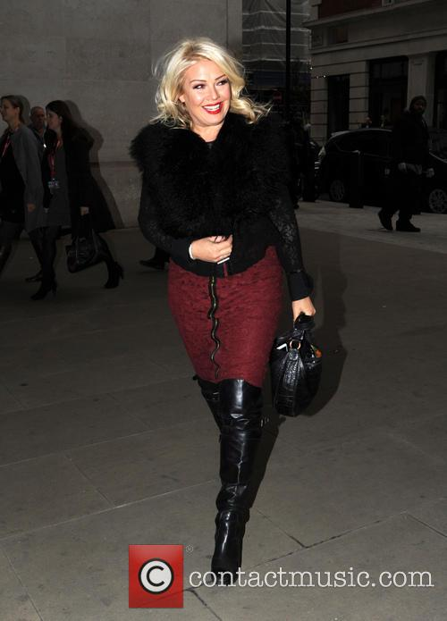 Kim Wilde pictured at the BBC