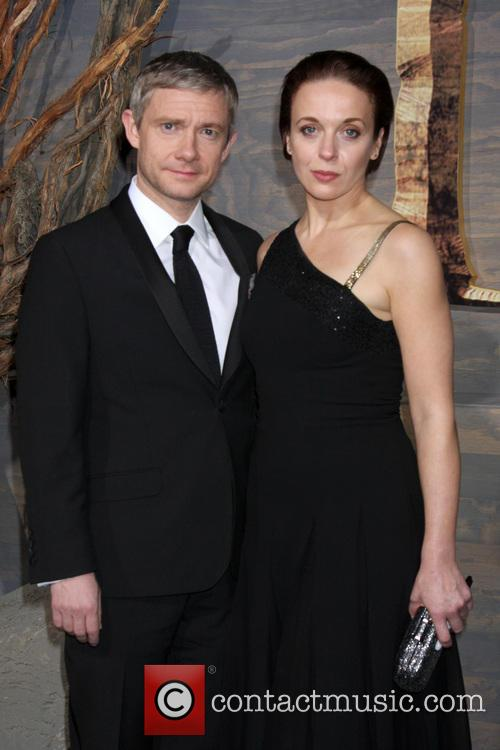 Martin Freeman and Amanda Abbington 2