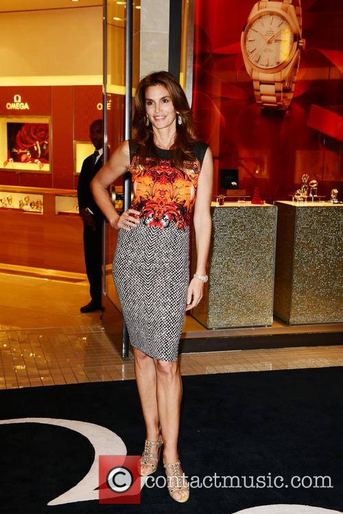 Cindy Crawford At OMEGA Boutique