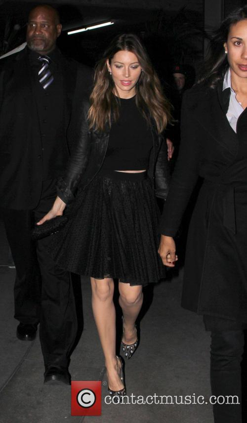 Jessica Biel arrives at ArcLight Hollywood Cinemas