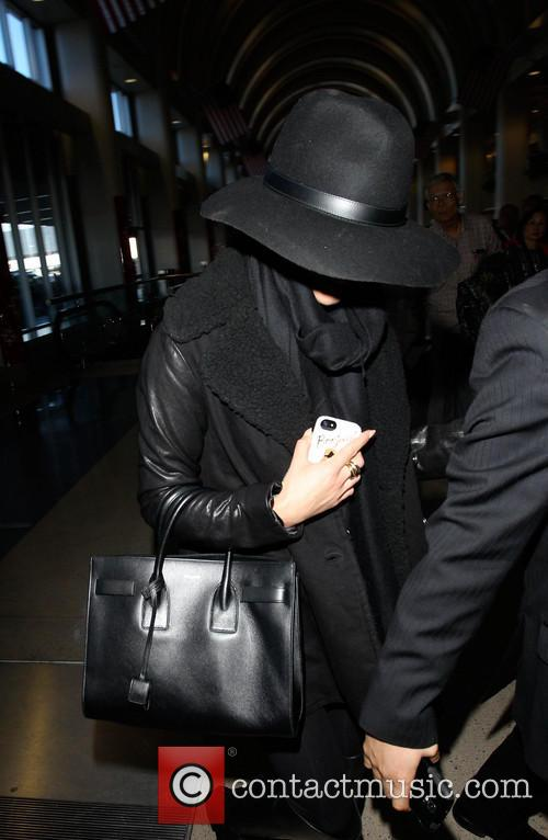 Lea Michelle Arrives At LAX