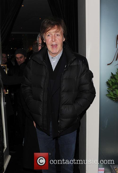 Paul McCartney In A Puffa Jacket
