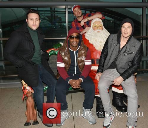 Antony Costa, Simon Webbe, Duncan James, Santa and Lee Ryan - Blue 2