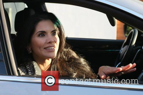 Joyce Giraud Leaving Il Pastaio Restaurant
