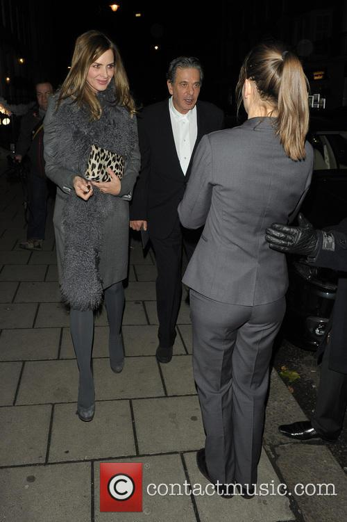 Charles Saatchi and Trinny Woodall at 34 restaurant