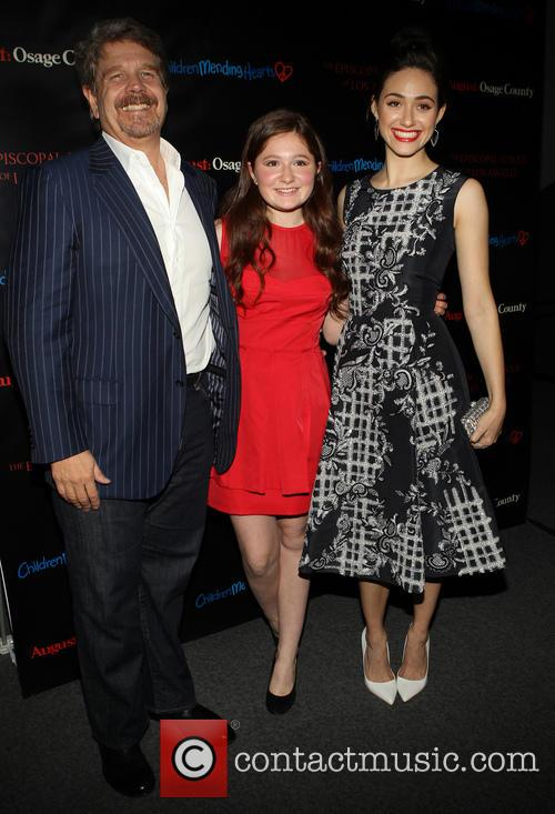 John Wells, Emma Kenney and Emmy Rossum 1