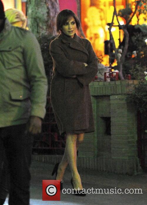 "Jennifer Lopez filming ""The Boy Next Door"""