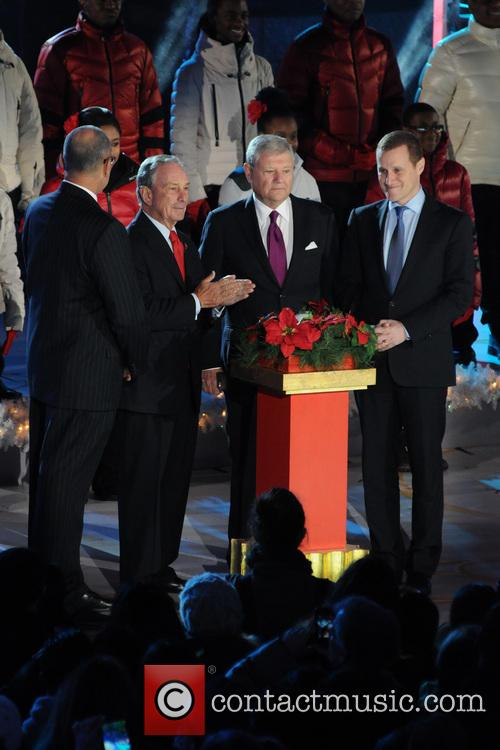 Mayor Michael Bloomberg, Jerry I. Speyer and Rob Speyer 3