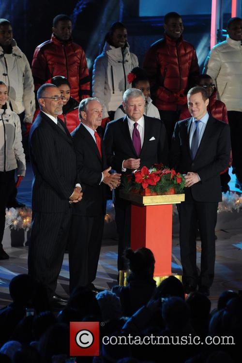 Mayor Michael Bloomberg, Jerry I. Speyer and Rob Speyer 6