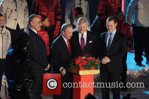 Mayor Michael Bloomberg, Jerry I. Speyer and Rob Speyer 1