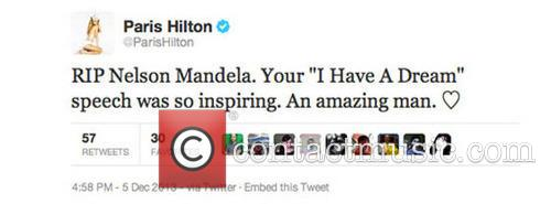 Fake Paris Hilton tweet causes a stir online