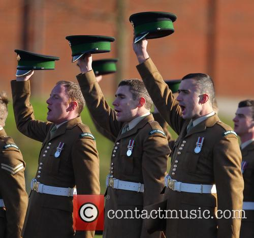 atmosphere irish guards campaign medal presentation 3985235