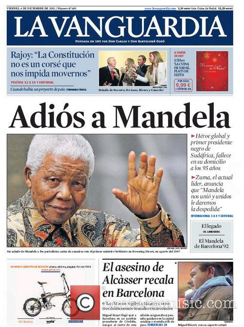 Front Pages From Around, The World and Nelson Mandela Dies 3