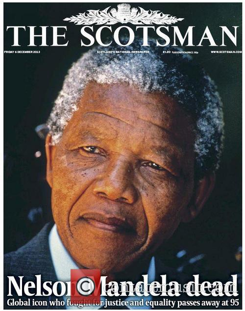 Front Pages From Around, The World and Nelson Mandela Dies 12