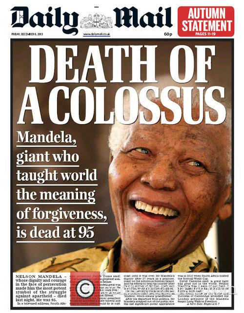 Front pages from around the world: Nelson Mandela...