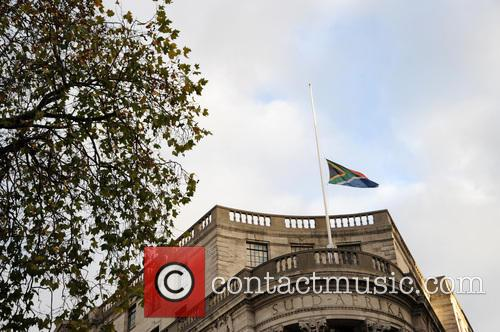 Flag at half mast at South Africa House