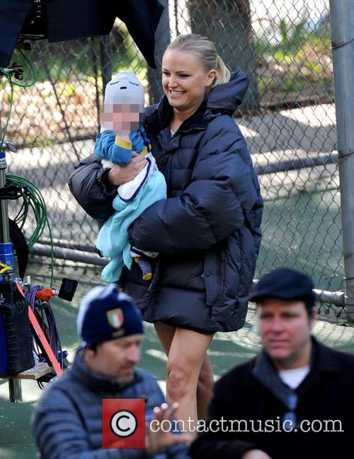 Malin Akerman and Sebastian 10