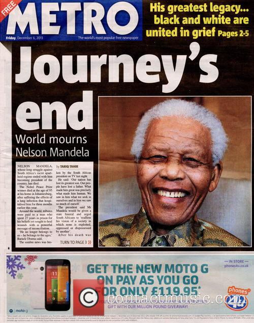 Front Pages From Around, The World and Nelson Mandela Dies 16