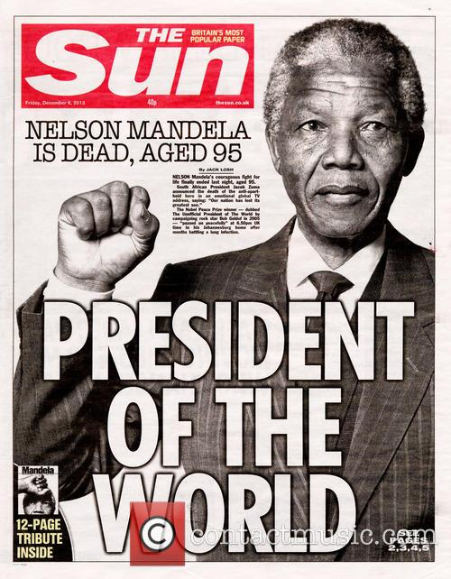 Front Pages From Around, The World and Nelson Mandela Dies 18