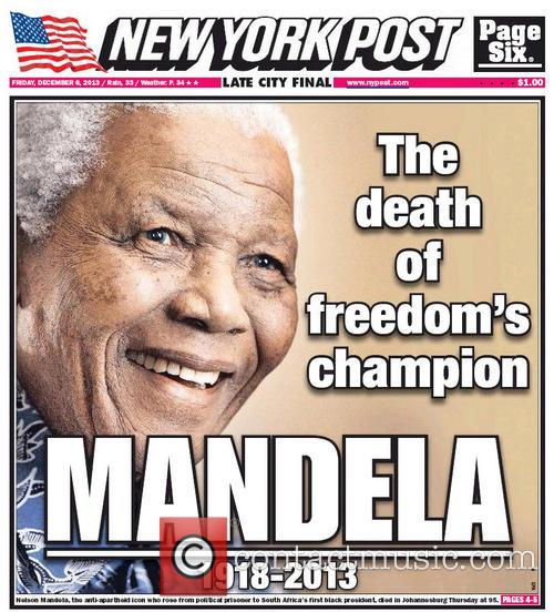 Front Pages From Around, The World and Nelson Mandela Dies 19