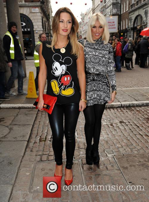 Sam Faiers and Billie Faiers in Covent Garden