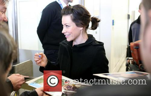 Evangeline Lilly arrives at Berlin Tegel Airport